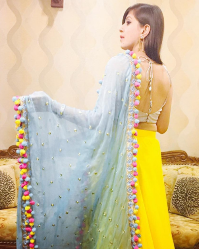 1-pompom-dupatta design ideas