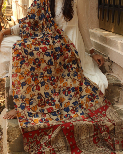 5-kalamkari-dupatta design ideas