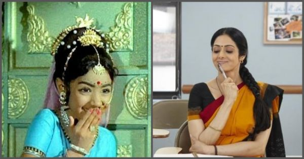 Then  Now Pictures Of 11 Child Stars Who Are Now Popular Bollywood Celebrities - sridevi