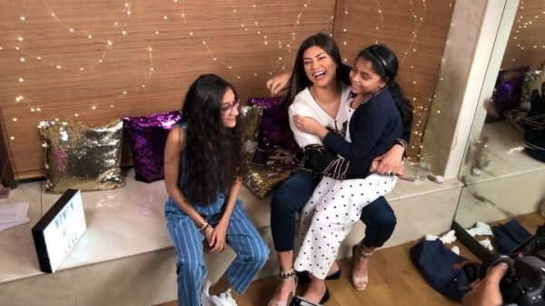 Sushmita Sen Reveals Renee's Reaction On Being Told She Is Adopted- Girls laughing
