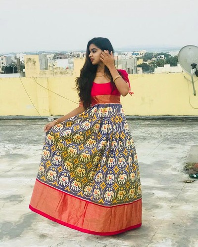 6. Dresses Made From Old Sarees In Marathi