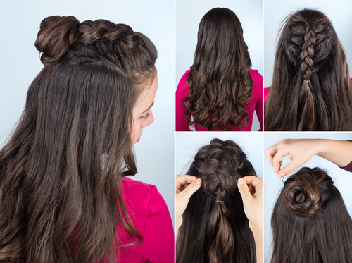 2 hairstyles for long hair