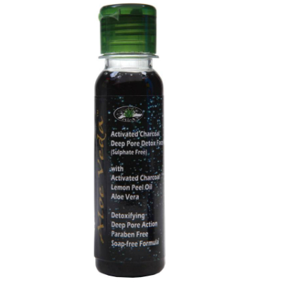 10 herbal beauty products - Aloe Veda Activated Charcoal Deep Pore Detox Face Wash