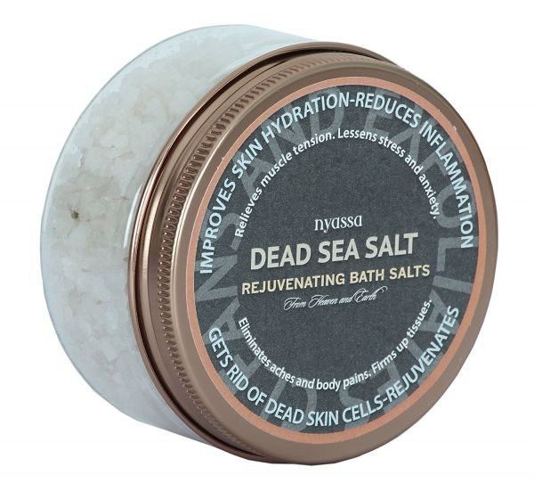 11 herbal beauty products - Nyassa Dead Sea Salt with essential minerals
