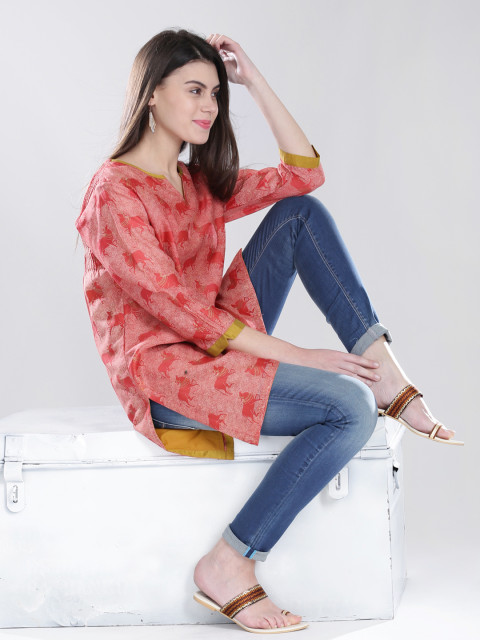 neutral undertone 2- what colours suit your skin tone -fabindia - dusky pink kurti