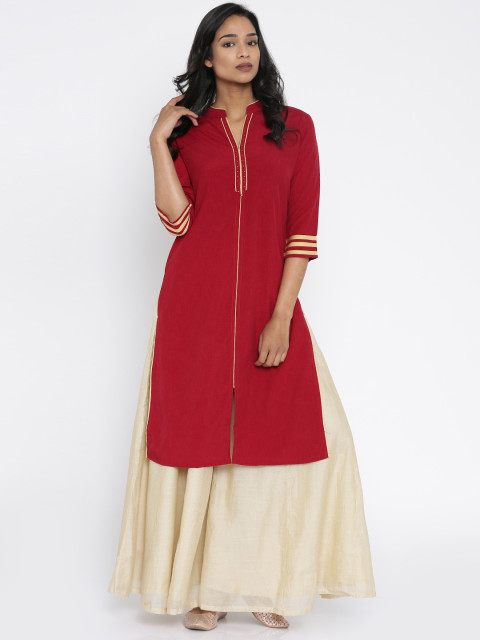 warm undertone 3- what colours suit your skin tone - red kurta - Soch
