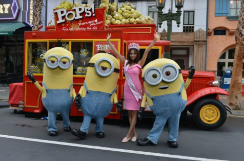 5 trip with besties - woman having fun with minions