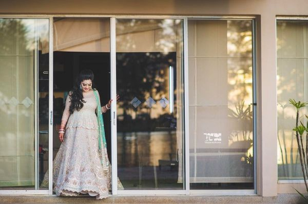 2 bridal fashion trends - peplum lehenga