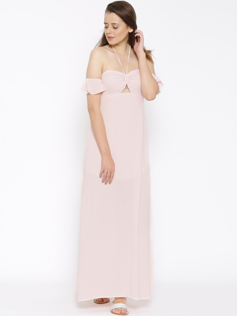 6 dresses that suit girls with dusky skin - FOREVER 21 Women Pink Solid Maxi Dress