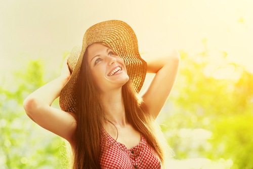 6. Take care of your skin - Girl wearing a hat