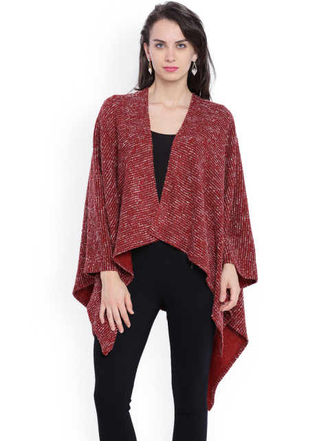 10 stylish capes and shrugs Avirate Maroon Shrug