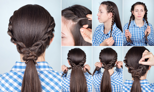 2.  Twist tricks- Pony tail hairstyles-