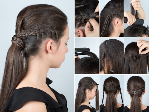 9. Braided wonder- ponytail hairstyles
