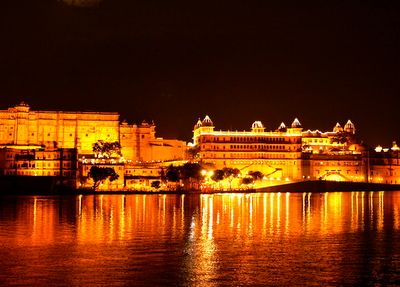 View at night - Lake Pichola (1)
