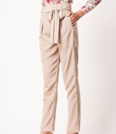 western formals for work - beige trousers
