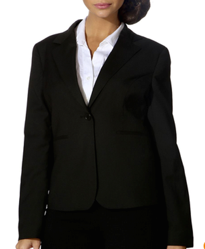 western formals for work - black blazer