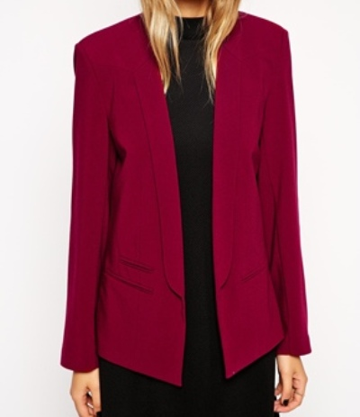 western formals for work - burgundy blazer