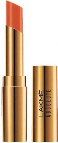 Lakme-Absolute-Argan-Oil-Lip-Color-Dewy-Orange-coral-lipstick