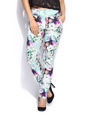 Paper-Dolls-Women-Multicoloured-Floral-Printed-Trousers