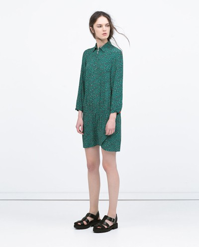 Spring Dresses 10 Zara Printed Shirtdress