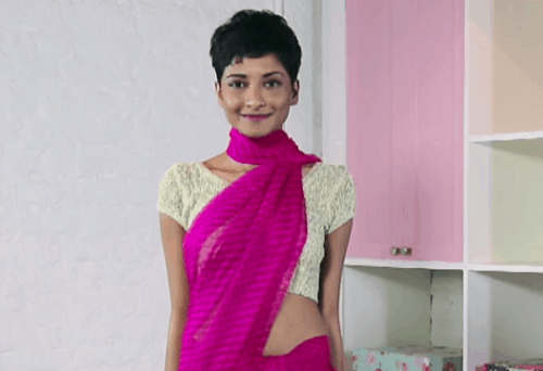 new ways to drape a saree video 1