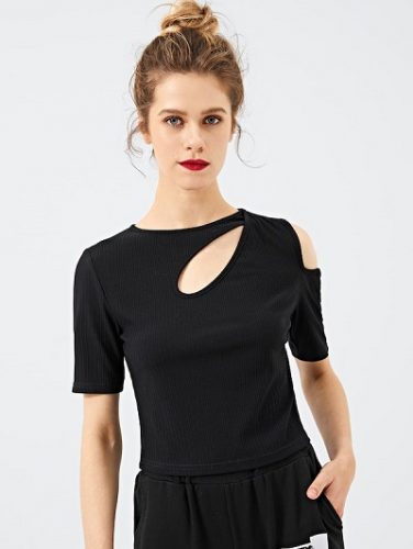 Cut Out Solid Tee