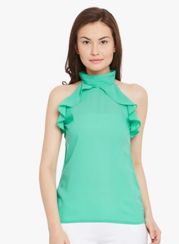 Halter Neck With Frills