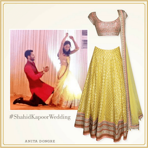 Shahid kapoor wedding outfit