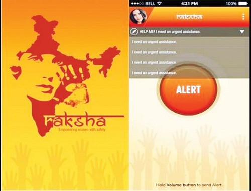 apps for women Raksha