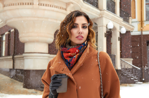 look stylish in winter