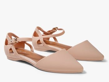 Nude sling flat