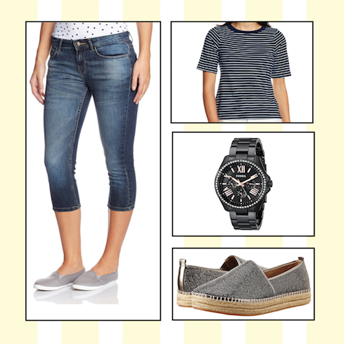 different ways to wear blue jeans. 3