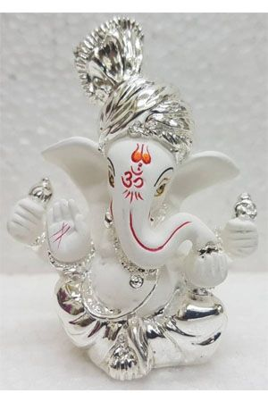 gold-art-india-silver-plated-white-terracotta-pagdi-ganesha