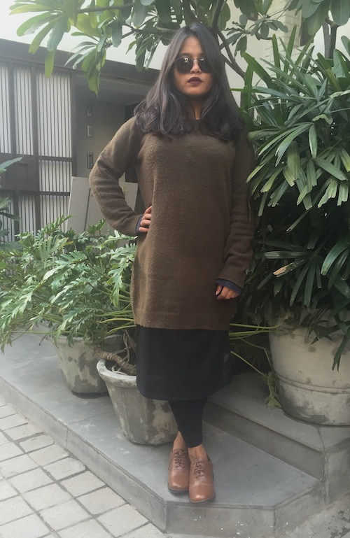 How to style skirts in winter Caroline