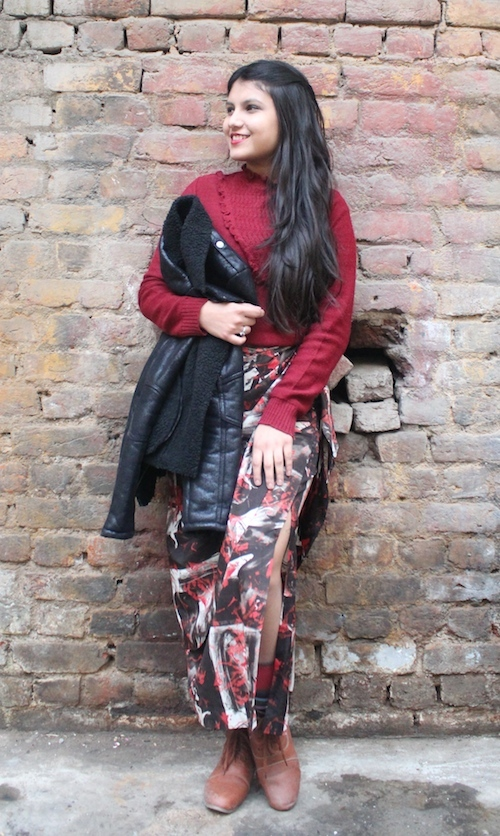 How to style skirts in winter Cherry