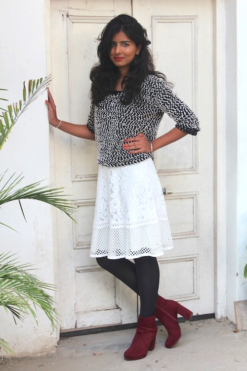How to style skirts in winter divya