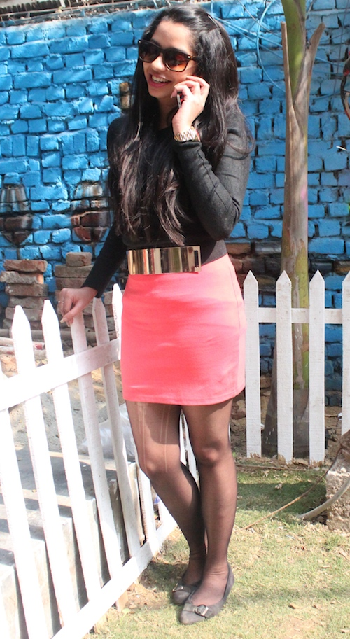 snigdha How to style skirts in winter