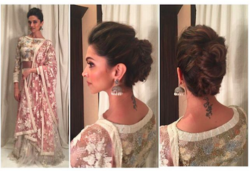 deepika padukone hairstyles - point 4 pouf + updo