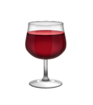 favorite emoji says about you - the wine glass