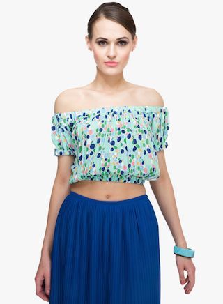 cropped and off shoulder tops