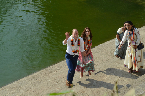 kate and william in india