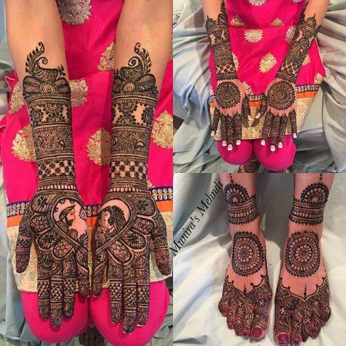 mehendi designs for Indian brides