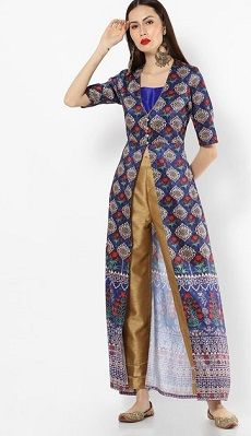 Front-slit-indian-outfits-that-make-you-look-tall
