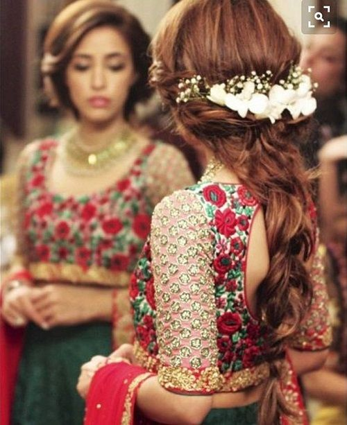 brides wearing flowers