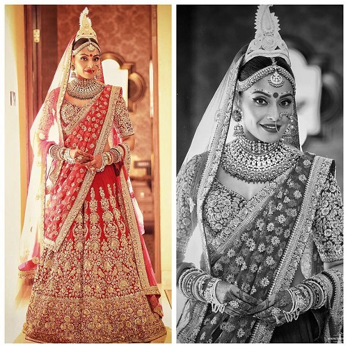 1 red bridal lehengas