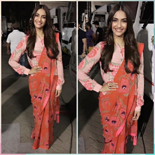 1 saree styles to look slimmer