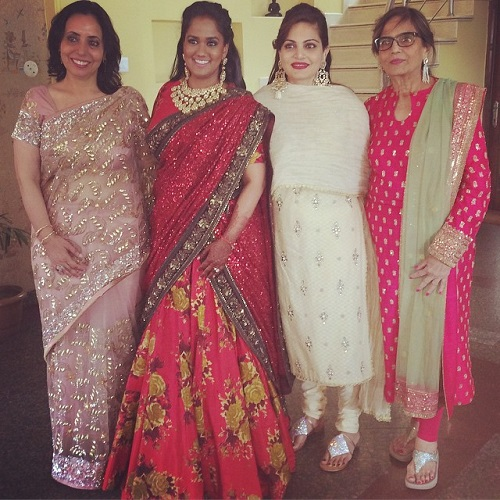 4 red bridal lehengas