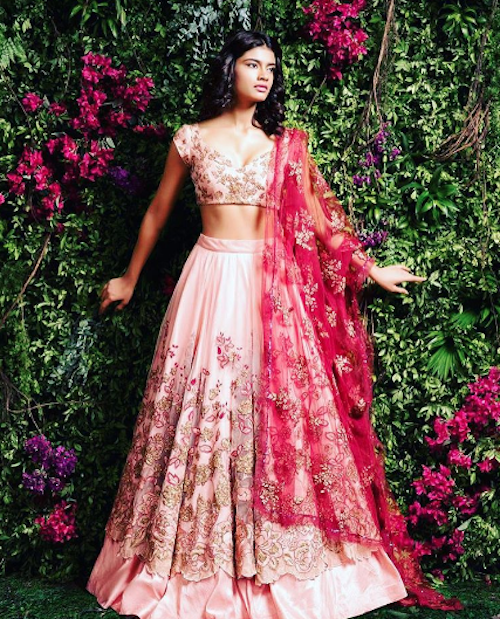 9 look slimmer in lehenga