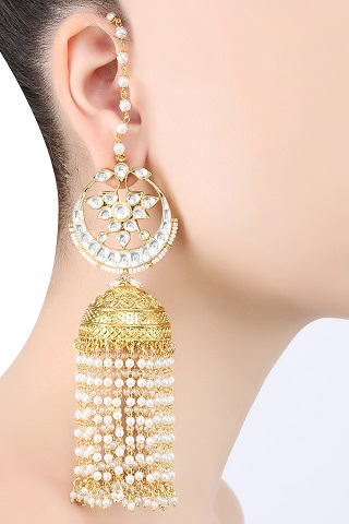 2 gold plated earrings