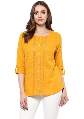 bright-mustard-best-short-kurti